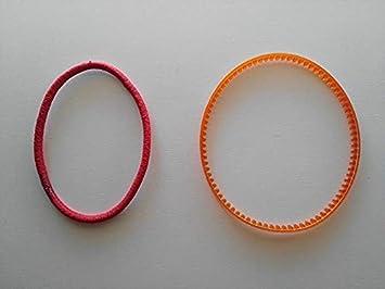 Correas para motor exterior de maquinas de coser domesticas. 2 unid: Amazon.es: Hogar