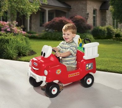 (Little Tikes Spray & Rescue Fire Truck Riding Toy)