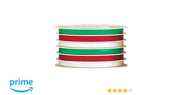 Metallic Curling Ribbon Rolls 3//16 inches wide x 75 feet long 6 Assorted Colors