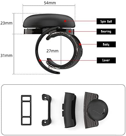 ZIONly Sports Black Silicon Power Handle Spinner for Car Vehicle Accessory