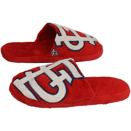 - Forever Collectibles MLB St. Louis Cardinals SLPMBBLGRSSCD Slippers, Team Colors, One Size