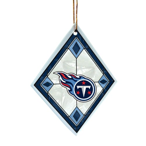 Amazon.com : NFL Tennessee Titans Art Glass Ornament : Sports Fan ...