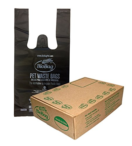 (BioBag Premium Pet Waste Bags with Handles, Standard Size, 150 Count)