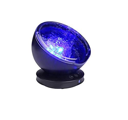 Lámpara Proyector Océano Ola LED Luz Noche Giratoria Reproductor ...