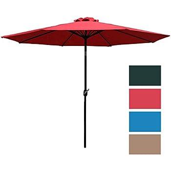 amazon com best choice products patio umbrella 9 aluminum patio