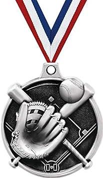 Crown Awards 1.5 Softball Glove Medal Silver Softball Award Medals