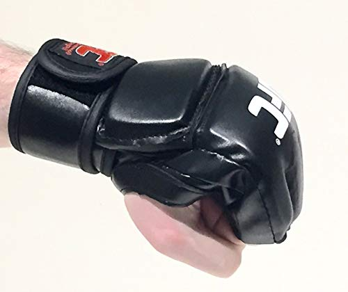 (UFC Boxing Gloves - Men Women MMA Grappling Mitts for Training and Professional Fights - Ideal for Sparring)