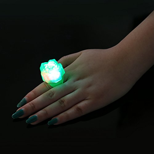 Birthday Party Favor For Kids LED Light Up Rings 38 Pack Prizes Classroom Glow I