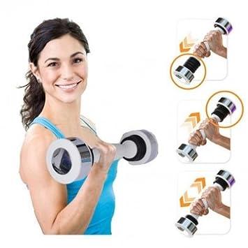 Mancuernas sacudida peso calorías ejercicio Fitness cuerpo tono brazo pecho: Amazon.es: Deportes y aire libre