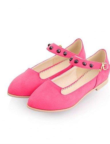 Piatto Donna Verde Pink Casual Formale Scarpe ShangYi Felpato Decolleté con Rosa Giallo cinturino Ballerine Tessuto Blu fxpSHw