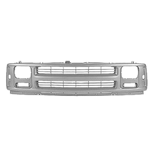Koolzap For NEW 96-02 Chevy Express Van Front Grill Grille Assembly Gray GM1200384 15037241 (Chevy Express 96 02 Front)