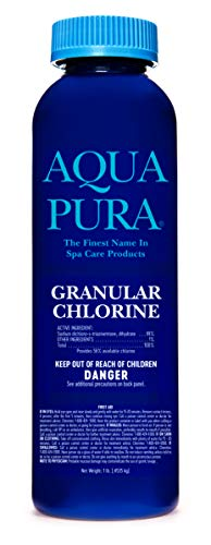 AQUA PURA Chlorine Granules for Swimming Pools, Hot Tubs and Spas – Pool Safe – Long-Duration Sterilization – Pool Maintenance Supplies and Chemicals – 1 lb Efficiency Size