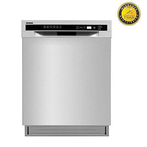 Lycan 24″ Semi-built in Style Fully Integrated Design Dishwasher Stainless Steel LDW2401SS