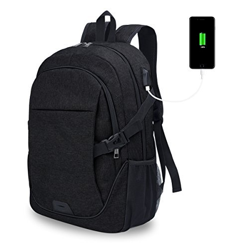 ADUO Anti-Theft Laptop Backpack with USB Charging Port School Bookbag Travel Backpack for 15.6 Inch Laptop and Notebook