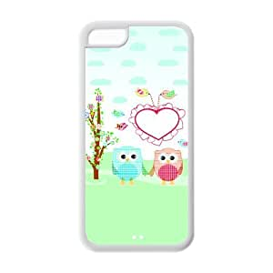 Personality customization Hardshell Strong Protective Colorful Animal Cute Night Owl Pictures Protective Cover Case for Iphone 5C Case-2 At li cases