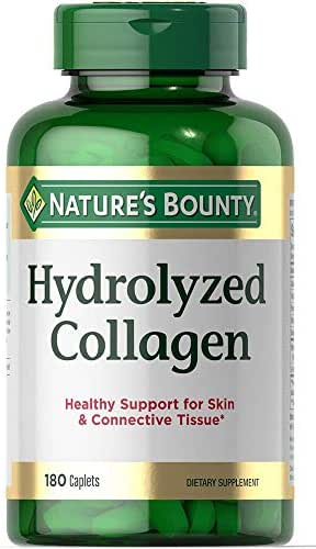 Hydrolyzed Collagen 1000 mg Healthy Support for Skin & Connective Tissue -180 Caplets (1)