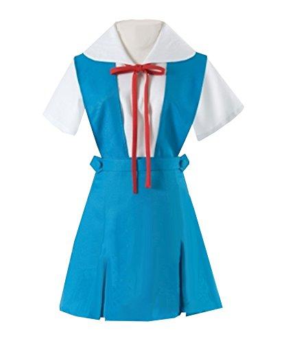 Rei Ayanami School Uniform Costumes - ZYHCOS Cosplay Costume Girls Blue School