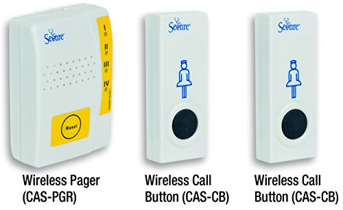 Secure Caregiver Pager with Two Wireless Nurse Call Butto...