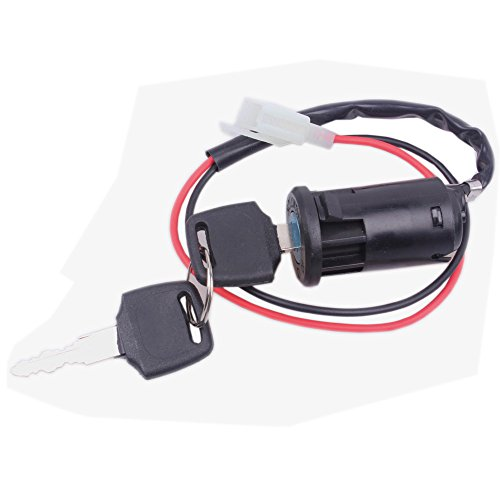 Wingsmoto Ignition Key Switch Lock 2 Wire Electrical Scooter 2 Position (Wire 5 Way Switch)