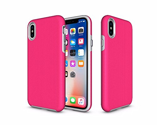 Brothersville Rugged Armor iPhone X Case with Dual Layer Protection Shockproof Design and Rugged Texture, - Shape Facial Profile