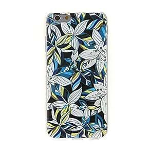 WQQ Kinston Multicolor Flower Leaf Diamond Paste Pattern TPU Soft Cover for iPhone 6 Plus