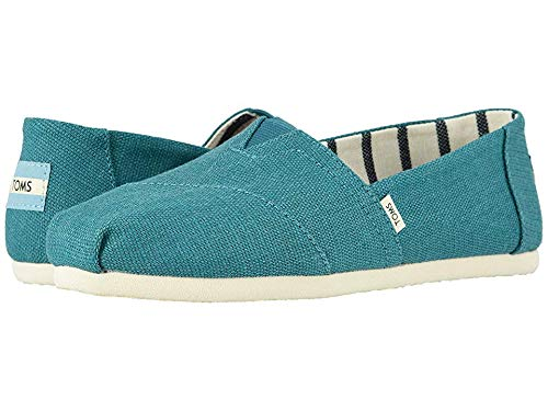 (TOMS Women's Venice Collection Alpargata Harbor Blue Heritage Canvas 8 B US)