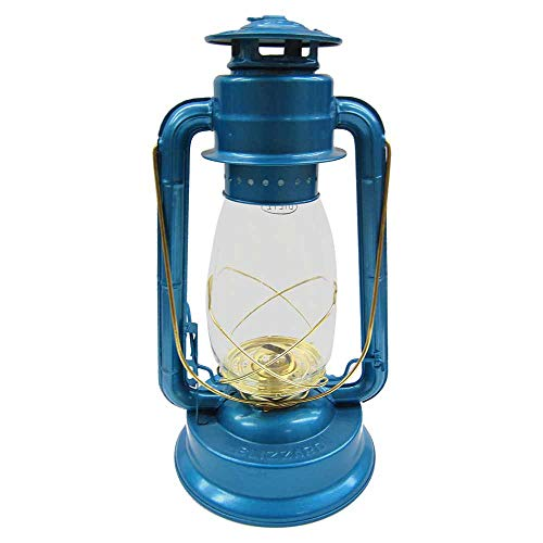 Dietz 80 Blizzard Brass Trim Oil Lantern, Blue by Dietz