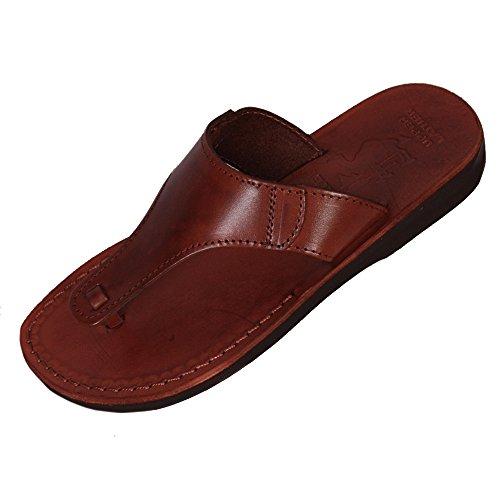 Brown Genuine Leather Roman Jesus Sandals #017 sizes EU 35-46 zdXbJ3w