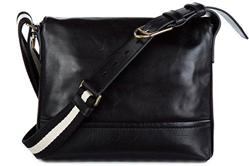 Bally borsa uomo a tracolla borsello in pelle tamrac nero