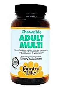 Country Life Chewable Adult'S Multi-Vitamin, 60-Wafer