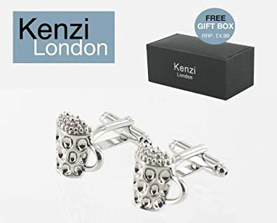 e873b8a58e30 Kenzi London - Gifts for Him - Mens Designer Fashion Cufflinks - - Perfect  Gift for Fathers Day