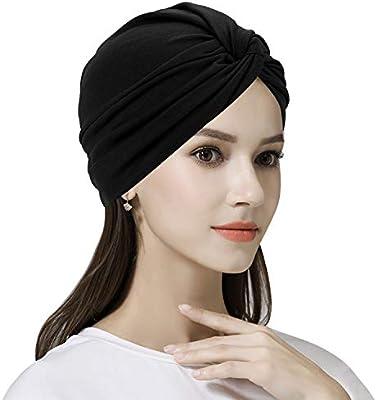 Womens Turban Muslim Hijab Cotton Cancer Chemo Cap Bandana Beanie Headwear Hat