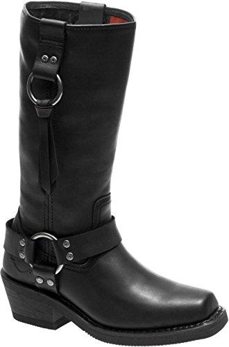 HARLEY-DAVIDSON Women's Fenmore Motorcycle Boot, Black, 7.5 Medium US (Boots Harley Davidson Harness)