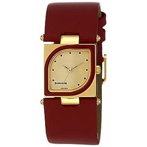 Sonata Yuva Analog Gold Dial Women's Watch -ND8919YL04AC
