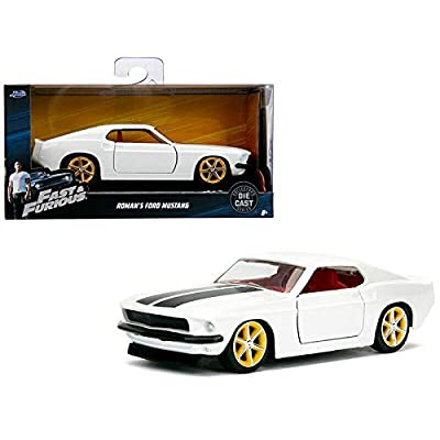 New DIECAST Toys CAR JADA 1:32 W/B - Metals - Fast & Furious - ROMAN'S Ford Mustang (White) 99517: Toys & Games
