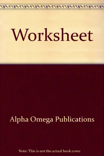 Worksheet (Lifepac Electives Accounting)