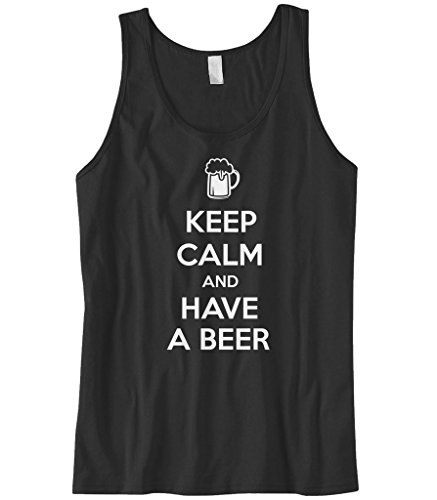 Cybertela Men's Keep Calm and Have A Beer Tank Top (Black, X-Large) (Have A Keep And Calm Beer)