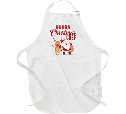 Huron Christmas Chef Last Name Group Family Cooking Team Apron L White