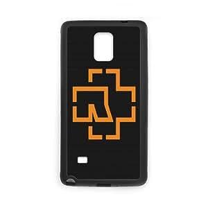 Antecedentes Rammstein Símbolo Gráficos Naranja Nota caja del teléfono 4 Cell 3757 Samsung Galaxy funda Negro caja del teléfono celular Funda Cubierta EEECBCAAL76136