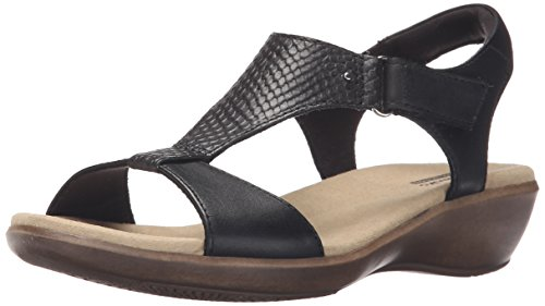 Clarks Women's Roza Pine Dress Sandal,Black,10 M US