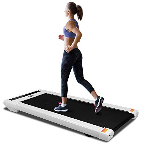 ONETWOFIT Under Desk Fitness Treadmill with LED Display & Wireless Remote Control & Bluetooth App,Speed Adjustment,Walking Jogging Machine for Home/Office Cardio Fitness OT131