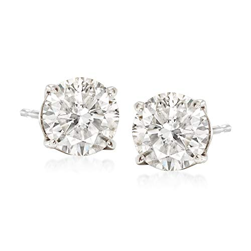 Ross-Simons 2.00 ct. t.w. CZ Stud Earrings in 14kt White Gold 2ct Tw Stud Earrings