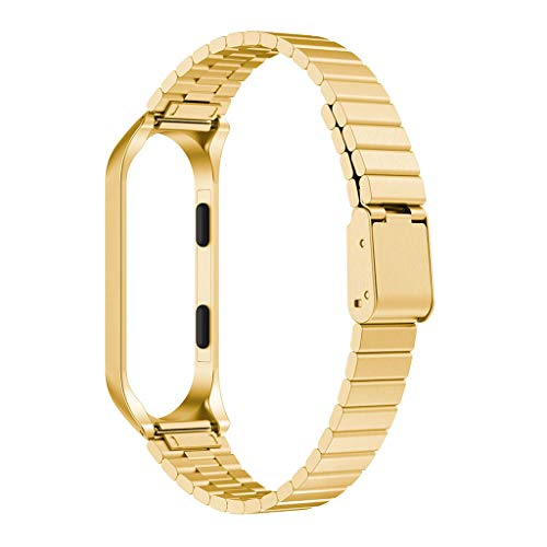 Price comparison product image Stainless Steel Wristband + Metal Case Ultrathin New Strap for Xiaomi Mi Band 4