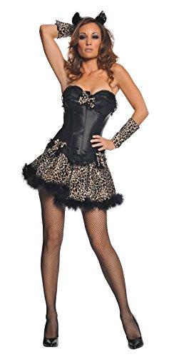 Sexy Leopard Costume (Marabou Bustier)