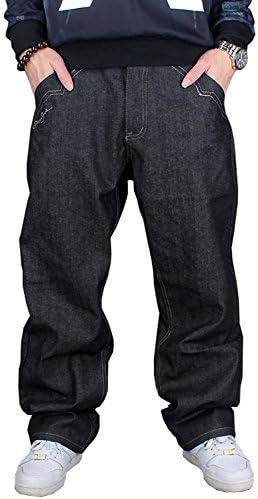メンズ デニムパンツ ゆったり バギーパンツ ボトムス 極太 カーゴパンツ 大きいサイズ ヒップホップ 刺繍 KZ-008