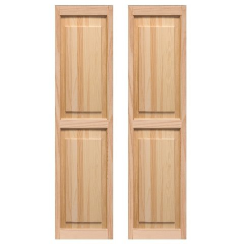 LTL Home Products SHP59 Exterior Window Raised Panel Shutters, 15