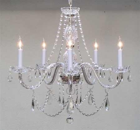 Cheap Swarovski Crystal Trimmed Chandelier! Chandeliers Lighting 25X24 H25″ X W24″