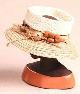 Woven Open Crown Lock - Harriet Rosebud Miniature Hat ()