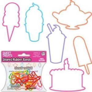 (Sweet Treats Shaped Rubber Bands by Toysmith)