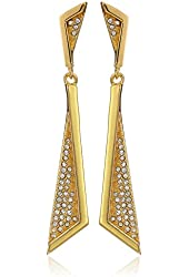 Vince Camuto Angular Pave Double Drop Earrings